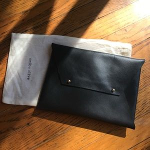 Black Tribe Alive Leather Clutch
